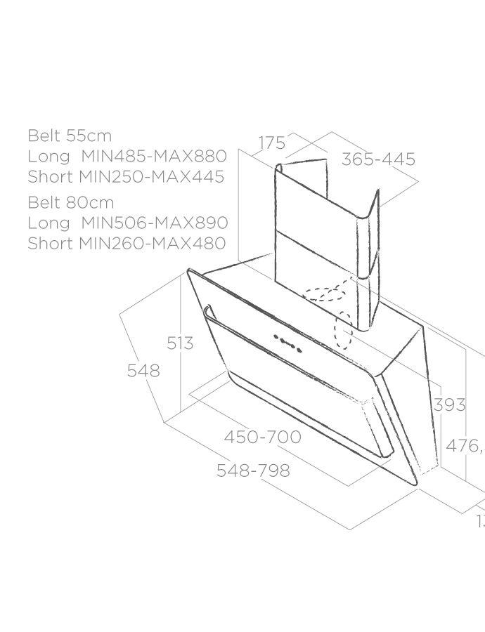 Hood Wall-mounted Belt Elica