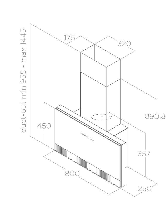 Hood Wall-mounted SUPER PLAT Elica
