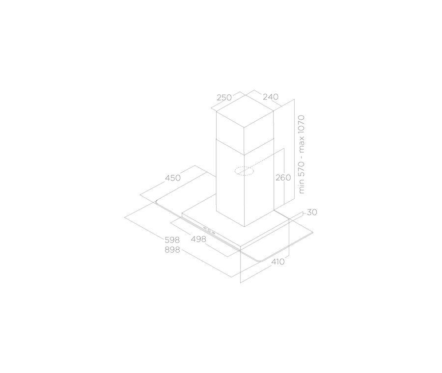 Hood Wall-mounted TRIBE Elica